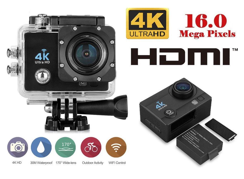 Action Camera Subacquea : Pro cam k wifi dv camera ultra hd mp sport action videocamera
