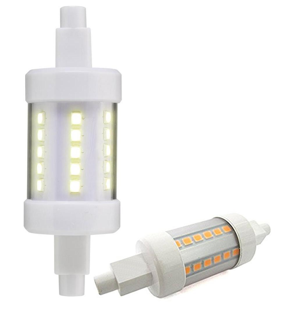 Lampadina lampada led r7s 78mm led 2835 sostituzione for Lampada alogena lineare led