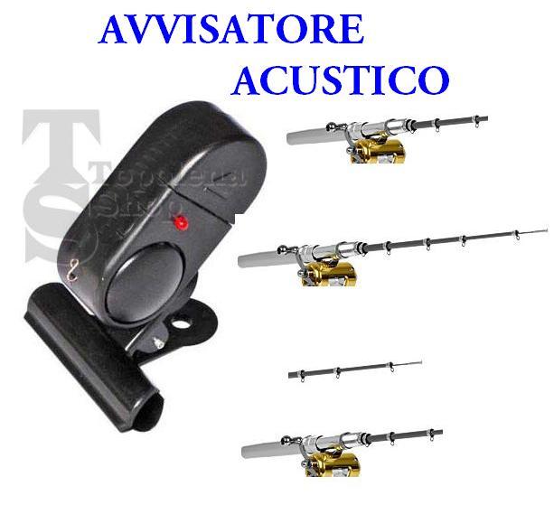 Avvisatore allarme sonoro acustico per canna da pesca - Interruttore sonoro ...
