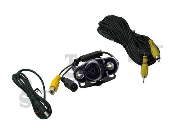 TELECAMERA RETROMARCIA RETROCAMERA AUTO CAMPER 2 LED SMD STAFFA COLORI SC0