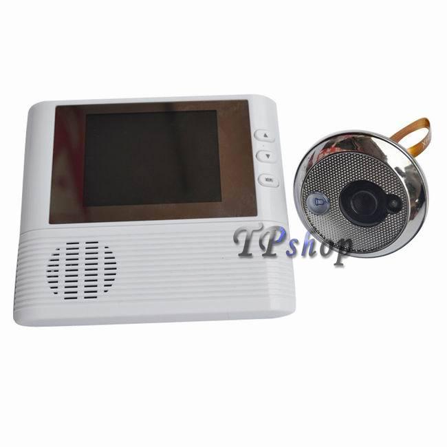 Telecamera spioncino per porta blindata con monitor 2 8 - Spioncino porta con telecamera ...
