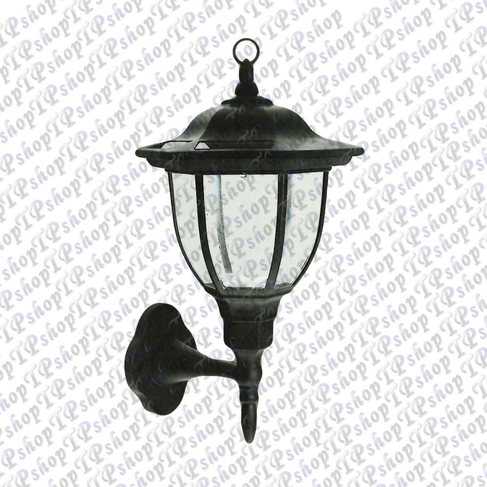 Lanterna led ad energia solare lampada muro da esterno for Lampade da esterno