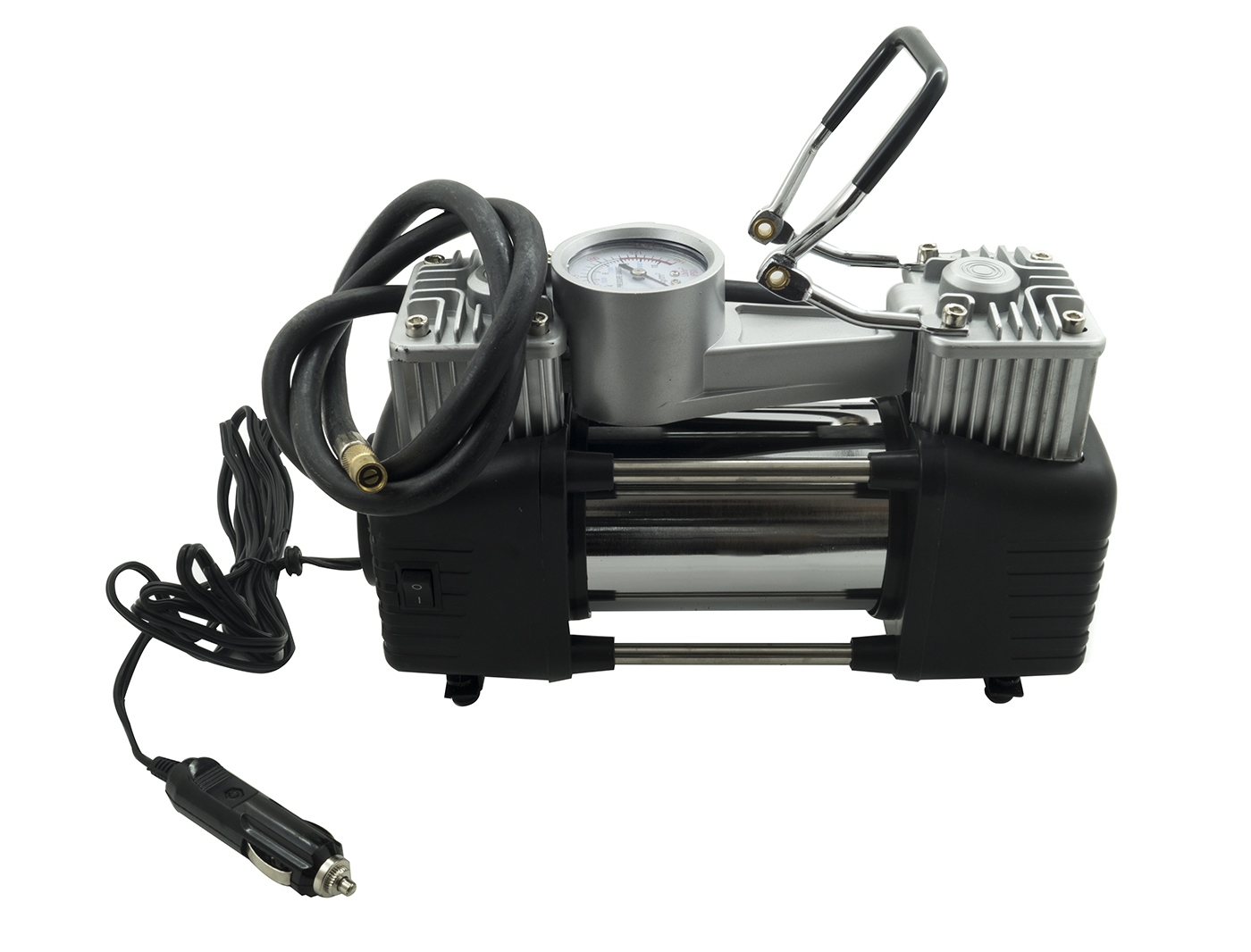 Compressore 2 cilindri 12v 85l 150psi per auto viaggio for Mini compressore portatile per auto moto bici 12v professionale accendisigari